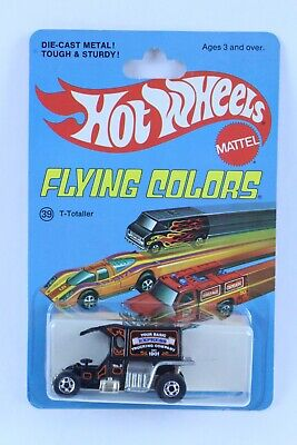 HOT WHEELS FLYING COLORS T-TOTALLER NEW ON CARD VERY NICE