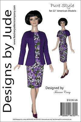 Pure Style Doll Clothes Sewing Pattern for 22