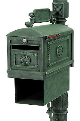 Locking Mailbox VERDE with Paper Box Secure Cast Aluminum Better Box