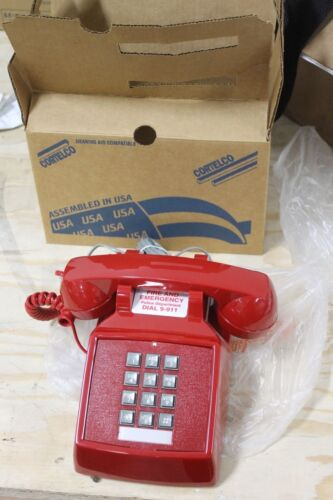 Cortelco Red Desk Phone 250047-vbo-20m New