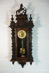Beautiful Antique German Wall Clock Old Regulator Clock Vintage