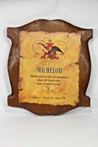 Vintage 1970s MICHELOB BEER Sign 3-D Resin Wood 14x17