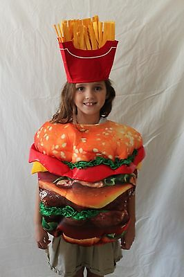 Boutique Kids Hamburger + French Fries Costume One Size Burger Boys Girls NEW - French Boy Costume