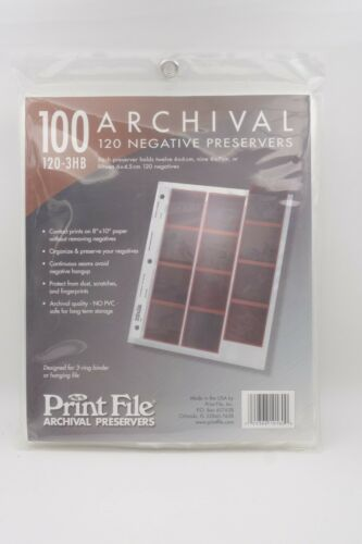 Print File 120-3HB 120 negative sleeves 100 count