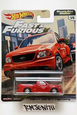 Hot Wheels Fast & Furious Motor City Muscle red Ford F-150 SVT Lightning *READ*