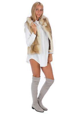 Raccoon Fur Vest Luxury Fur Fashion Blogger Style 38 - 40 Fur Vest М EX жилет G