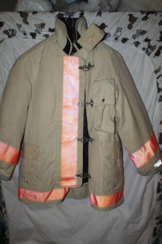 Body guard Vintage Canvas Leather Firefighter Coat  Turnout Jacket NOS Large