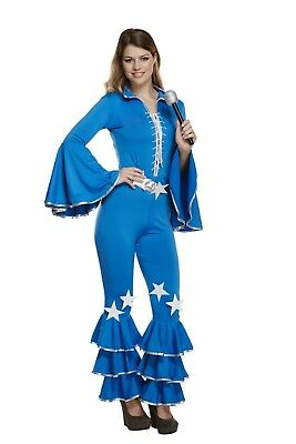 Adult Female Disco Girl 70s Dancer Fancy Dress Dressing Up Outfit Costume Hen Do - Female Disco Costumes