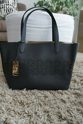 edle Lauren Ralph Lauren Damen Tasche / Shopper in schwarz / gold  *Neu*