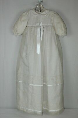 NWT Will'Beth 0-6 Month Floral Embroidered Baptism Christening Day Gown (Embroidered Floral Christening Gown)