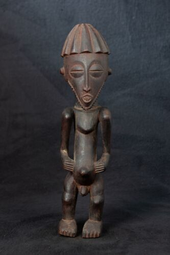 Bembe Male Ancestor Statue, D.R. Congo, Zambia, Central African Tribal Art