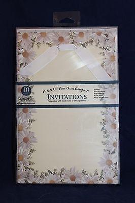 DAISY PRINTABLE INVITATIONS Birthday Garden Party Birthday Bridal Shower - Printable Bridal Shower Invitations