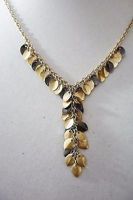 Kenneth Cole New York Two-Tone Mixed Bead Circle Pendant Necklace