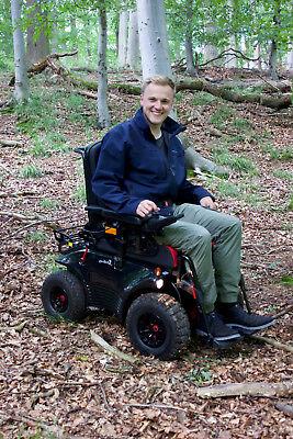 Meyra Optimus 2 RS offroad powerchair wheelchair all terrain snow sand mud track