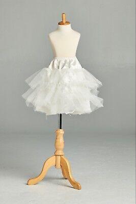 Underskirt Petticoat White A Line Junior Toddler Girl Crinoline Slip  (Toddler Petticoats)