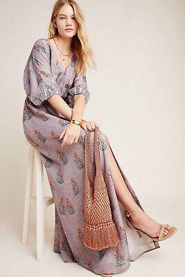 "ANTHROPOLOGIE ""Sachin & Babi Isolde Sequined Maxi Dress"" Sz 2 Grey NWOT $298"