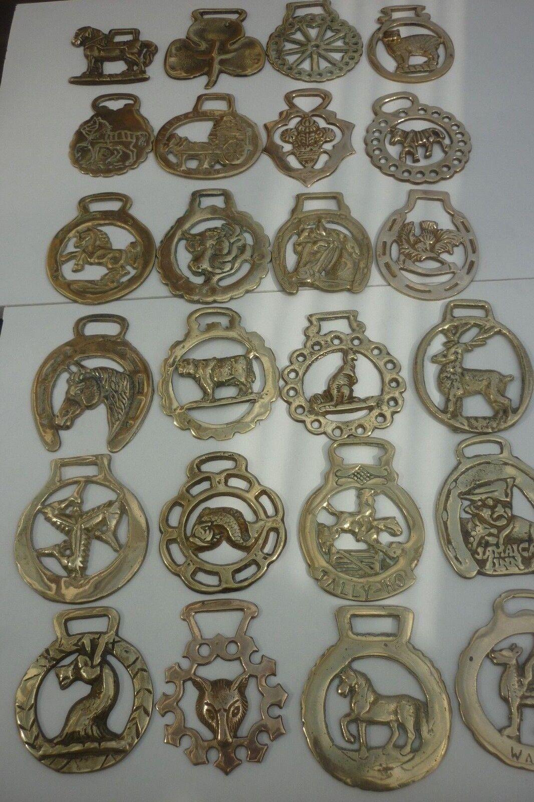 49 ASSORTED HORSE BRASSES - (8E) ~ COMBINE POST ~ DETAILS BELOW ~