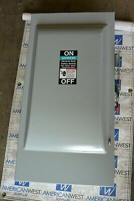 Siemens Gf324n 200 Amp 240 Volt Fusible 3 Phase Indoor Disconnect Switch