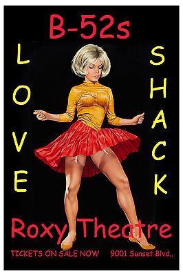 Love Shack: B-52's at Roxy on the Sunset Strip Los Angeles Concert Poster 2007