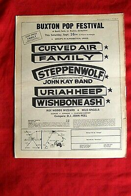 BUXTON POP FESTIVAL BOOTH FARM ORIGINAL 1972 VINTAGE POSTER ADVERT CURVED AIR