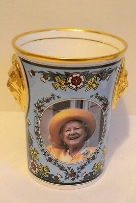 Limited Edition Lion head Beaker to Commemorate Queen Mothers 95th Birthday 1995