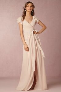 Nude Blush Anthropologie BHLDN Zola Wrap Bridesmaids Dress