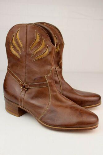 Deadstock 70s VTG Florsheim Designer Collection Inlay Western Zip Boots 11 Shoes