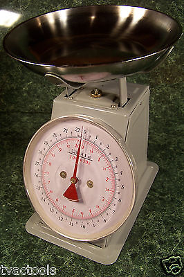 22 Lb. Dial Platform Scale With Removable Stainless Steel Dish New Pacel Produce