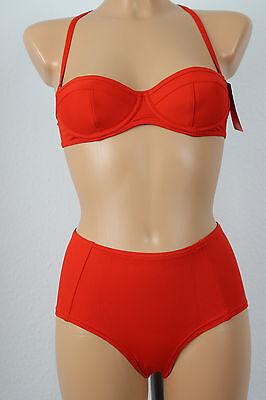Marken Bikini im 50er Jahre Style Gr. 34 Cup B red NEU A13-022