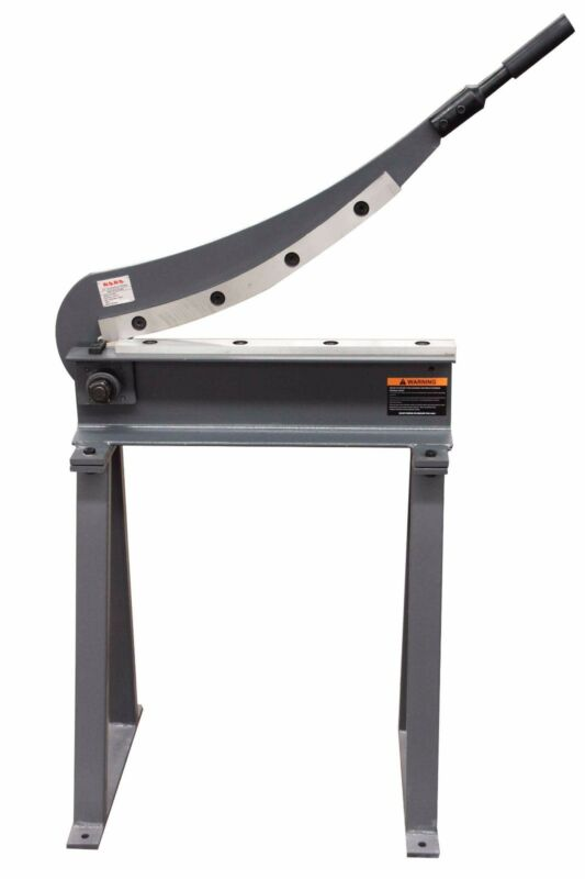 KAKA HS-20 20x16 Manual Guillotine Shear, Metal Plate Cutting Shear With Stand