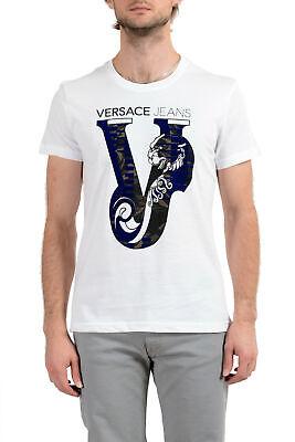 Versace Jeans Men's White Graphic Short Sleeve T-Shirt sz S M L XL 2XL