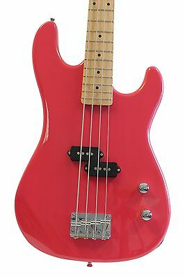 Full Size Pink 4 String Electric Bass Guitar Davison Demo Used 2nd Sale