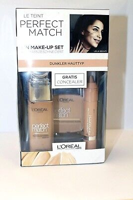 L'Oréal Paris Perfect Match Make Up Set 3-tlg. für dunkle Hauttypen Neu OVP