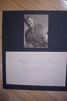 Signed Karl Gottfried Nordmann Luftwaffe Ace   Mercedes Benz President Autograph