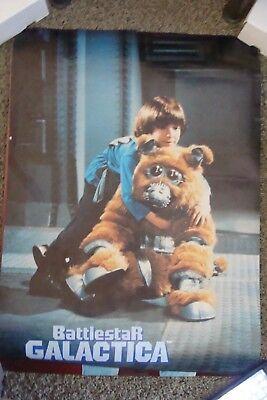 Battlestar Galactica 1978 Poster Boxey Muffit tv show vintage Cylon 22 x 28