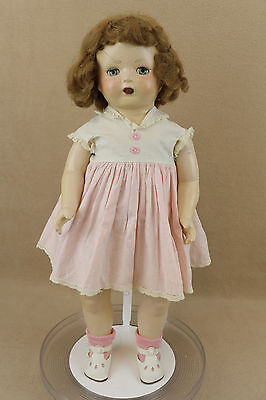 """21"""" vintage antique Composition cloth mama Doll 1930s with sleepy eyes"""