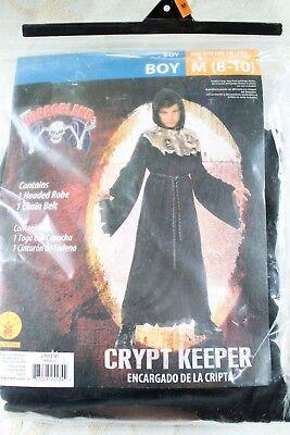 Crypt Keeper Halloween Costume Rubies Hooded Robe Dress Up Kids Boys Sz M 8-10 - Crypt Keeper Costume