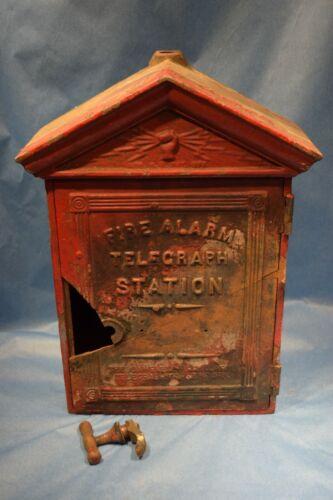 Vintage GAMEWELL FIRE ALARM CALL BOX  Original  1920