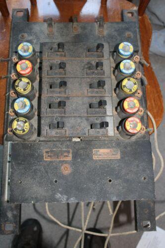 Antique Fuse Box Panel Vintage Circuit Underwriters Benjamin Starrett Board