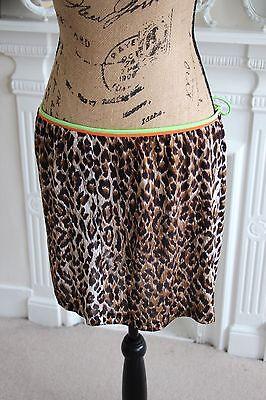 BNWOT Dolce Gabbana Beach Wear Leopard Print Wrap Skirt Sarong Medium 10 12 S M