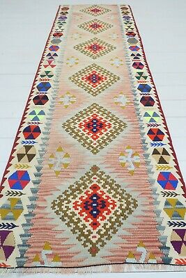 "Vintage Anatolian Kilim Runner Rug Carpet Runner Hallway Corridor Rug 28,7""X91,3 for sale  Shipping to South Africa"