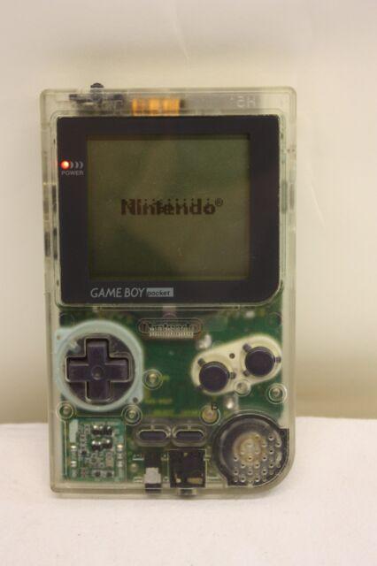 NINTENDO GAME BOY CONSOLE TRANSPARENT POCKET MGB-001 & GAME SUPER 64 IN 1 (M511)