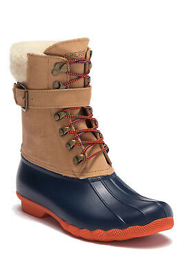Sperry Top-Sider Women's Shearwater Duck Boot Tan/Navy size 8