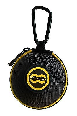 Ballsak Cue Ball Carrying Case - Pool and Billiard Accessory - Yellow/Black (Billiard Ball Carrying Case)