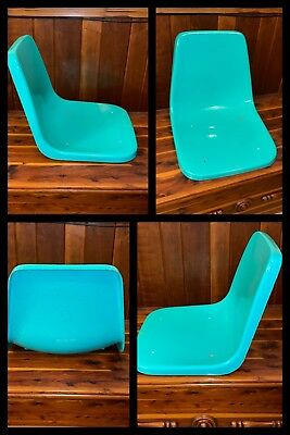 Used, Eames Fiberglass Shell Chair Seat Mid Century Modern Bright Aqua Blue Vintage  for sale  Albany