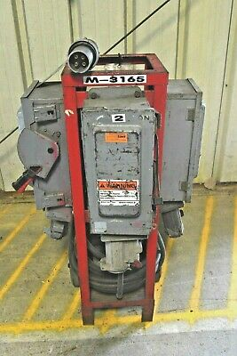 3 Phase 480v 3 Way Power Distribution Cart 480v - In 60a X3 Out Spider Box