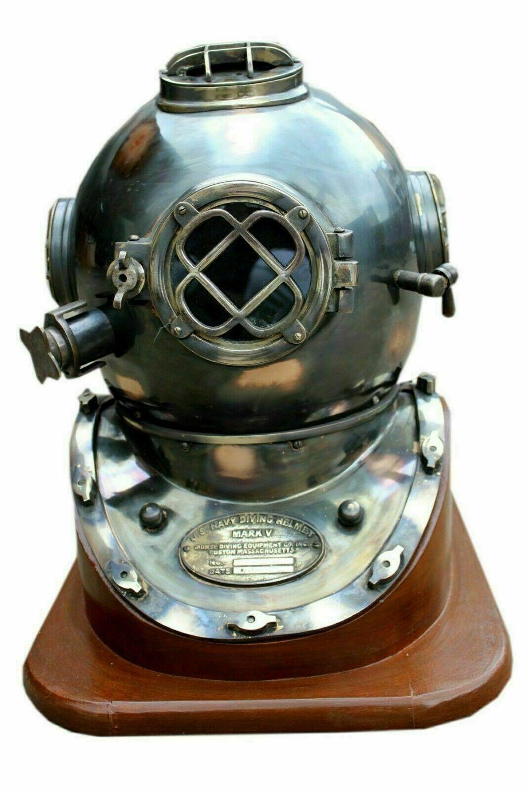 18 Inch US Navy Diving Helmet Mark V Deep Sea Divers Helmet Vintage Scuba Gift - $236.55