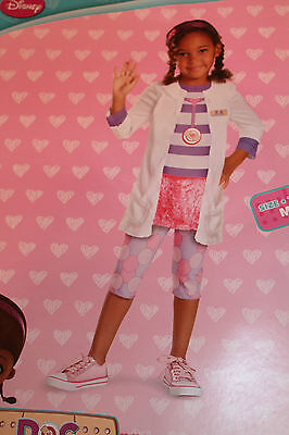 Toddler Girl 3T-4T Disney Doc McStuffins Costume Halloween Dress-Up Outfit NEW - Toddler Doc Mcstuffins Halloween Costume