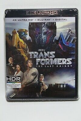 Transformers The Last Knight 4K + Blu-ray + Digital Copy*Brand New Sealed*