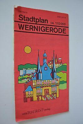 DDR Stadtplan Wernigerode